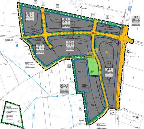 Interkommunales Gewerbegebiet Borgstedtfelde an der A7 bei Rendsburg, B-Plan Nr. 17